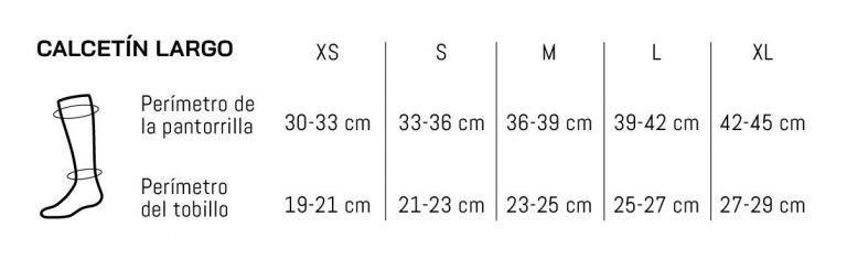 Guía de tallas medias compresión Sportlast