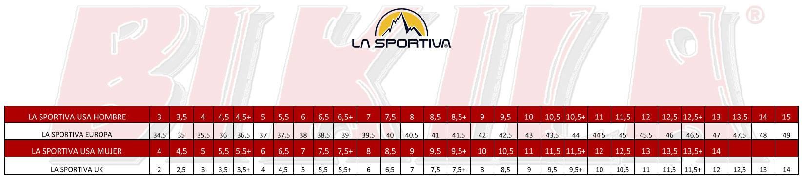 Tallas La Sportiva