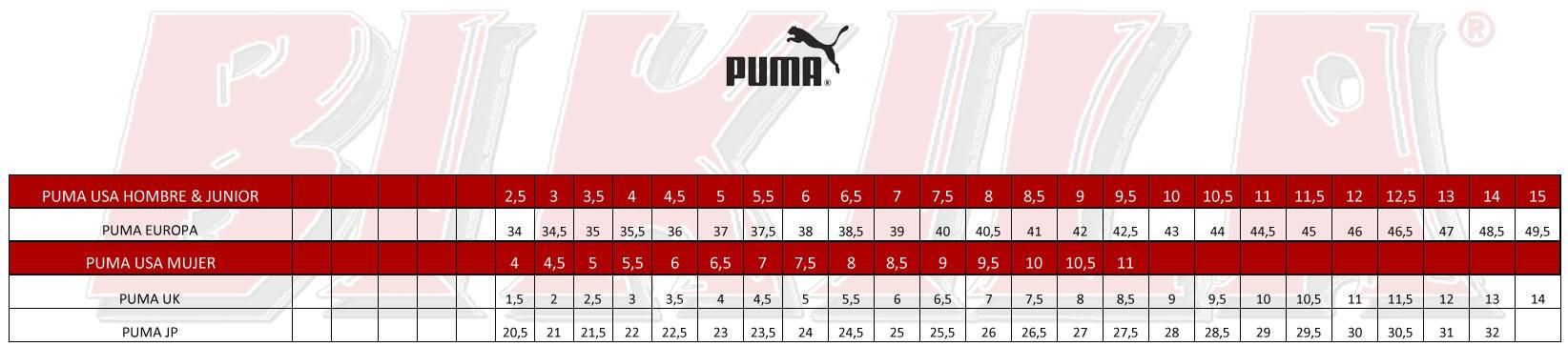 Tallas Puma